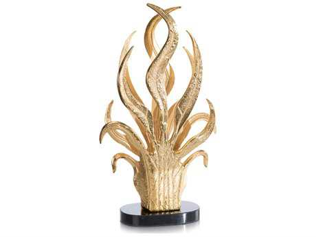 John Richard Golden Swaying Leaves Vase