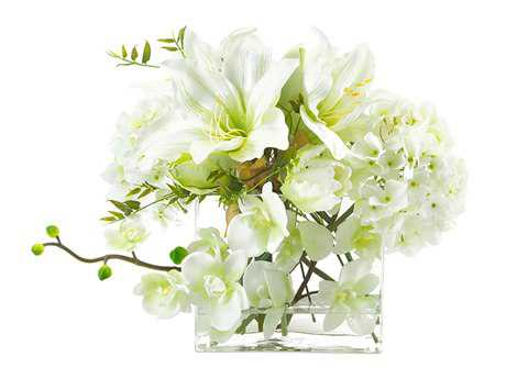John Richard Illusions Of White Floral Arrangement