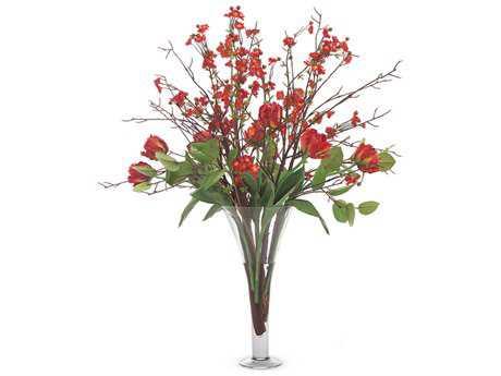 John Richard Quince & Tulips Floral Arrangement in Vase