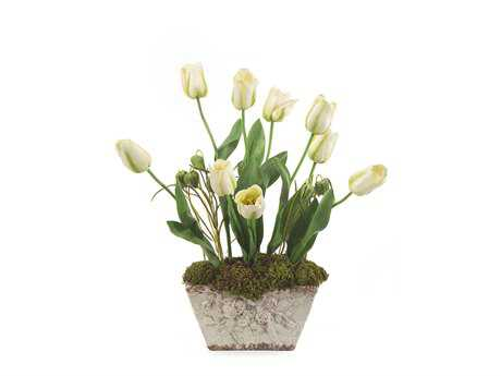 John Richard Potted Tulips Floral Arrangement
