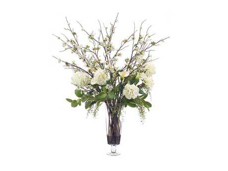 John Richard Evening White Floral Arrangement in Vase