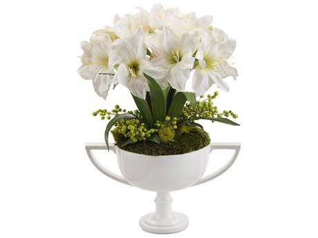 John Richard Fleur De Amaryllis Floral Arrangement in Vase