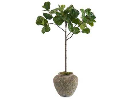 John Richard Manufactured Tree Trunk Young Fiddle Leaf Fig Decorative Tree