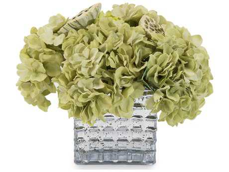 John Richard Transitional Fresh Water Look Classic Greens Decorative Floral Arrangement