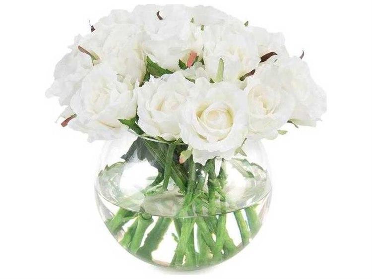 John Richard Alabaster Roses Floral Arrangement