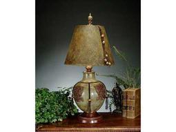 John Richard Hand-Finished Metal Urn Green - Brown Table Lamp
