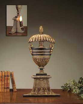 John Richard Antique Gold - Black Composition Back Table Lamp