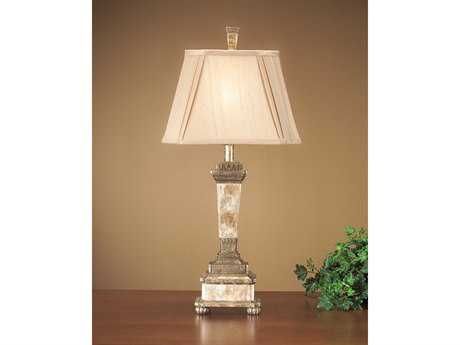 John Richard Antique Gold - Capiz Composition Table Lamp