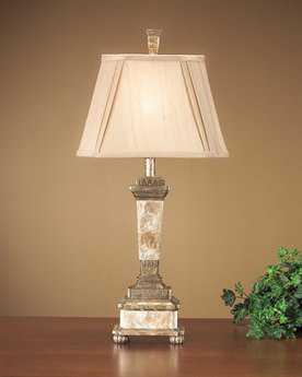 John Richard Antique Gold - Capiz Composition Table Lamp