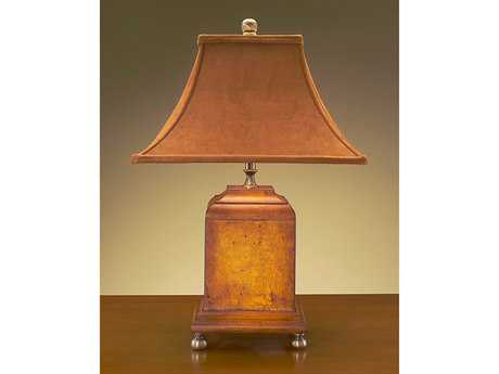 John Richard Hand And Wood Composition Table Lamp