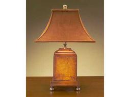 John Richard Hand And Wood Composition Table Lamp