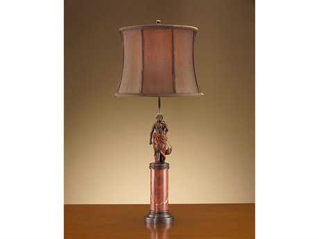 John Richard Hand-Finished With Baskets Metal Table Lamp