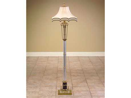 John Richard Column Brass - Acrylic - Glass Floor Lamp