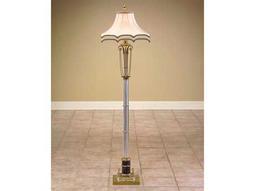 John Richard Column Brass - Acrylic - Glass Floor Lamp