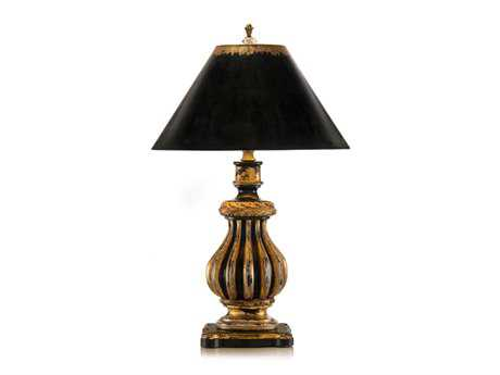 John Richard Hand-Finished Black - Gold Composition Table Lamp