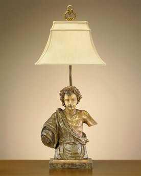 John Richard Hand-Finished Broken Angel Composition French Beige Table Lamp