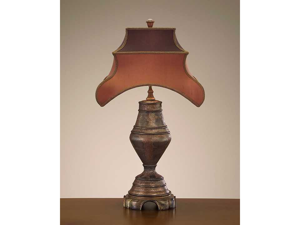 john richard wood copper table lamp jrjrl7614. Black Bedroom Furniture Sets. Home Design Ideas