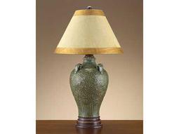 John Richard Tuscan Garden Urn Vintage Blue Table Lamp