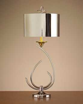 John Richard Stylized Chrome - Brass Table Lamp