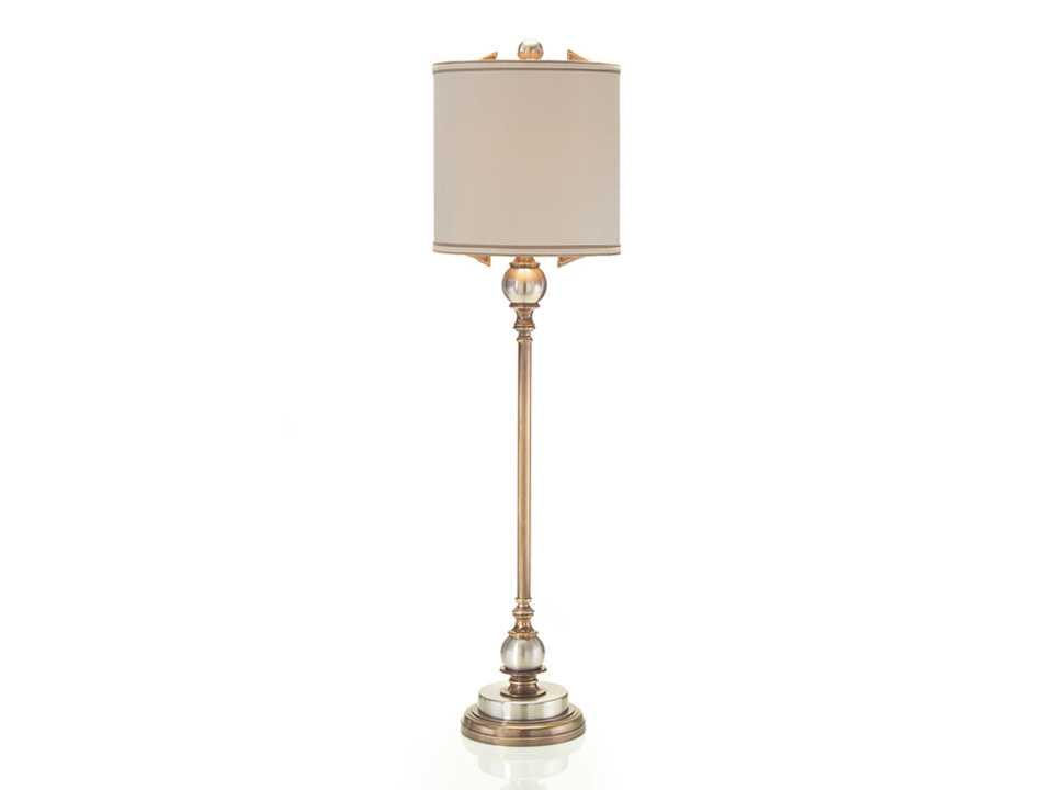 John Richard Mixed Metal Candlestick Oyster Table Lamp