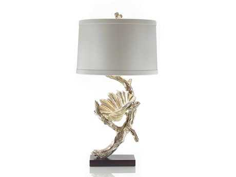 John Richard Silver Driftwood And Shell Composition Table Lamp