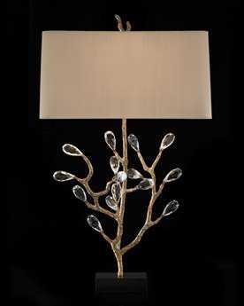John Richard Budding Crystal Gray Table Lamp