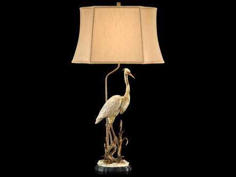 John Richard White Heron Accent Table Lamp