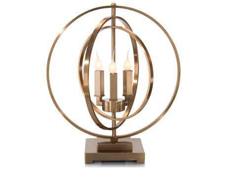 John Richard Concentric Circles Accent Three-Bulb Table Lamp