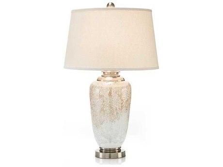 John Richard Mottled Glass Pearl Iced Buffet / Table Lamp