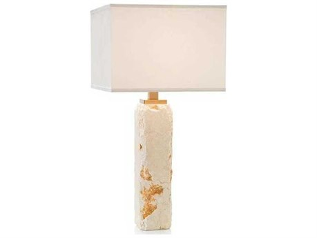 John Richard Chiseled Organic Stone Buffet / Table Lamp