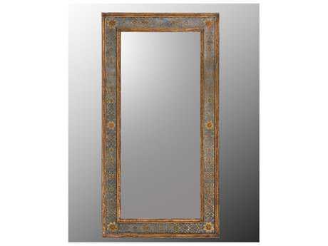 John Richard Galway' Hand Carved Wood Frame Floor Mirror