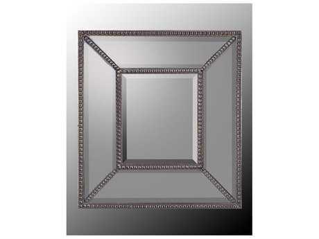 John Richard Beveled Mirrored Frame with Center Beveled Wall Mirror