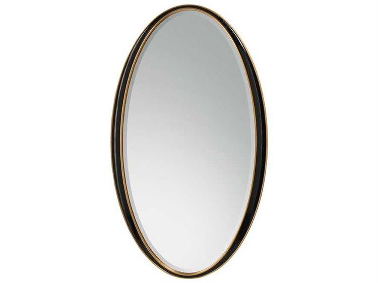 John Richard Black Oval Framed Mirror   JRJRM0736