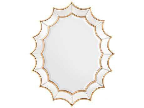 John Richard 38'' x 48'' Oval  Scalloped Wall Mirror
