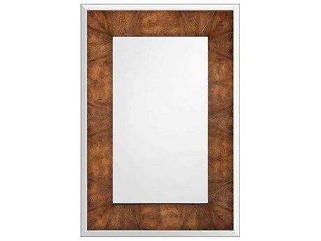 John Richard Xylo European Walnut Veneered 47'' x 68'' Rectangular Wall Mirror
