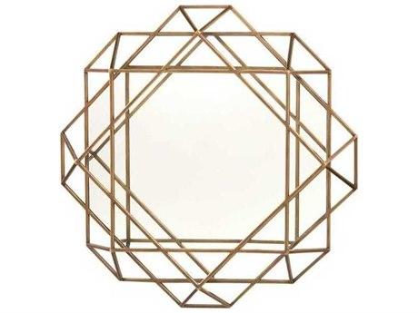 John Richard Mark McDowell Torino Lattice Mayan Bronze 42'' x 42'' Octagonal Wall Mirror