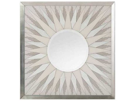 John Richard Radiant White and Gray 50'' Square Wall Mirror