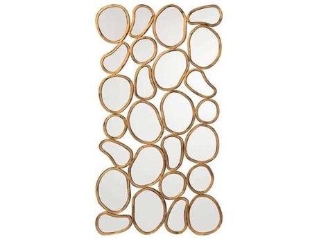 John Richard Pebbles Old Gold 71'' x 37'' Rectangular Wall Mirror