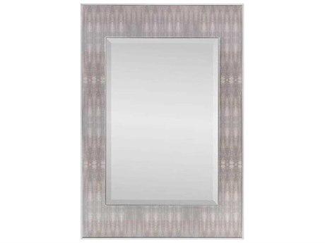 John Richard Dune Textile Chrome 35.5'' x 46.5'' Rectangular Wall Mirror