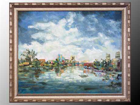John Richard Village Along The River Painting
