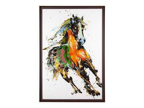 John Richard Leiming Running In The Wind Painting