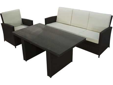Jaavan Bora Bora Wicker Low Dining Set