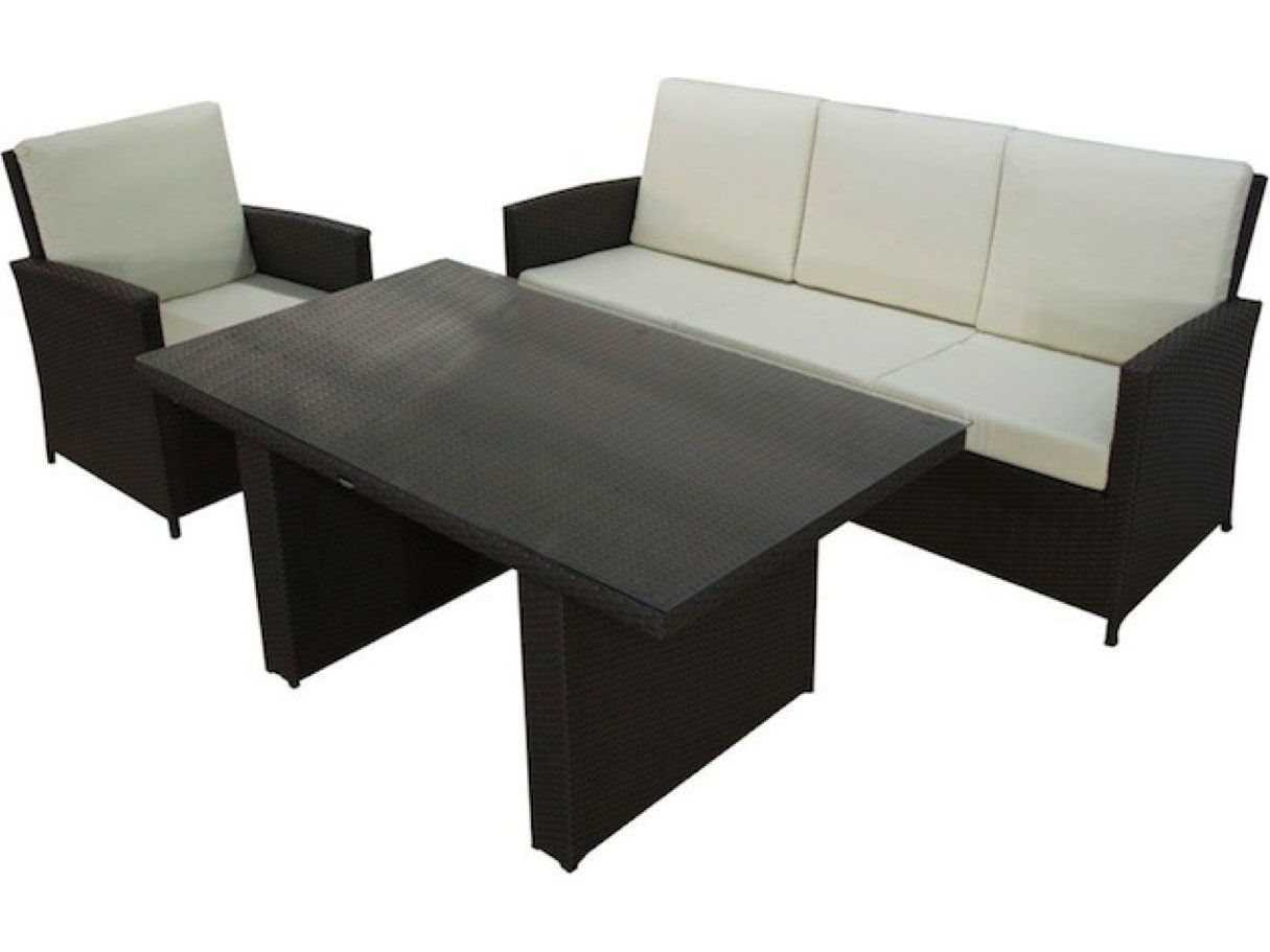 Jaavan Bora Bora Wicker Low Dining Set Boraboraset