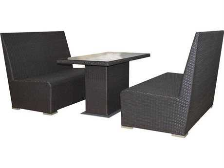Jaavan Cafe Wicker Booth Set