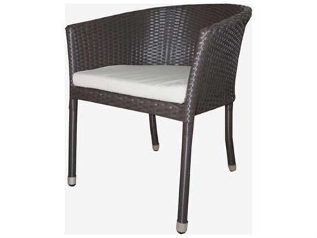 Feruci Club Wicker Dining Arm Chair
