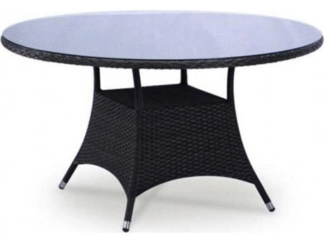 Feruci Bistro Wicker 34 Round Dining Table