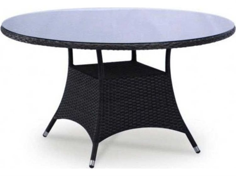 Feruci Bistro Wicker 34 Round Dining Table PatioLiving