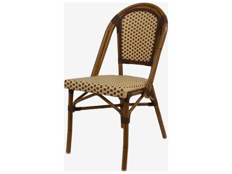 Feruci Cafe Teak Saint-Tropez Dining Side Chair PatioLiving