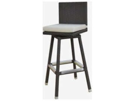 Feruci Venice Wicker Swivel Bar Stool