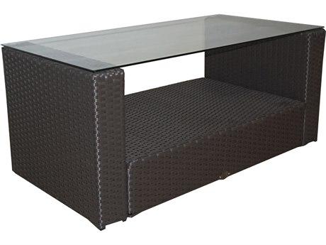 Feruci Ibiza Wicker 40W x 20D Rectangular Coffee Table